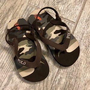 Boys Ralph Lauren Flip Flops Size 10